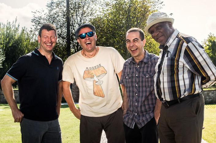John Webber, Joe Farnsworth, Valerio Pontrandolfo and Harold Mabern (photo by Gaetano Chiodini)