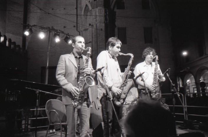 Valerio Pontrandolfo, Steve Grossman and Piero Odorici - La Strada Del Jazz, Bologna (Italy) September 17, 2011